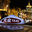 Taxi at night in Shanghai, China — Foto Stock