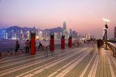 Avenue of Stars in Hong Kong at night — Stock Photo