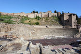 Roman theatre ruin in Malaga, Andalusia, Spain — Stock Photo