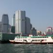 Ferry ship in the harbour of Hong Kong — Foto de Stock