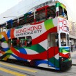 Double decker tram in Hong Kong city — Stock Photo