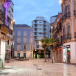 Square in Malaga at dusk. Andalusia, Spain — Stock Photo