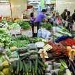 Stock Photo: Vegetable market in Hong Kong