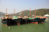 Fishing boats in Tai O village. Lantau Island, Hong Kong, China — Stock Photo