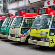 Buses downtown in Central Hong Kong, China — Stock Photo