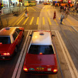 Stock Photo: Taxis downtown in Central Hong Kong, China