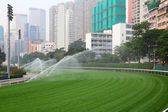 Happy Valley Racecourse in Hong Kong — Stock Photo