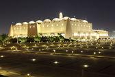 Abdul Wahhab Mosque illuminated at night. Doha, Qatar — Foto Stock