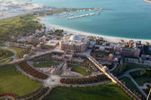 Aerial view of the Emirates Palace in Abu Dhabi, United Arab Emirates — Stock Photo