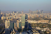 Aerial view of the downtown Abu Dhabi, United Arab Emirates — Stock Photo