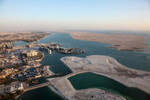 Aerial view over the coast of Abu Dhabi, United Arab Emirates — Stock Photo