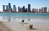 View of Abu Dhabi from Saadiyat Island, United Arab Emirates — Stock Photo