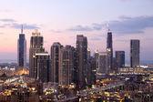 Dubai Downtown at dusk. United Arab Emirates — Stock Photo