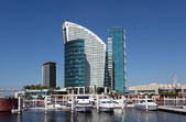 Hotel Intercontinental in Dubai Festival City. United Arab Emirates — Stock Photo