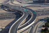 Highway intersection in Dubai, United Arab Emirates — Stock Photo