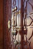 Bronze door handles in Sharjah, United Arab Emirates — Stock Photo