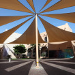Stock Photo: Sunshade in KatarCultural Village in Doha, Qatar, Middle East