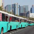 Buses on Corniche of Dohat Qatar National Day, 18th December 2013 — Stock Photo #40588095