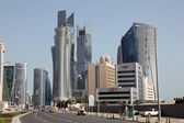Street downtown in Doha, Qatar, Middle East — Zdjęcie stockowe