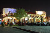 Restaurant in Souq Waqif at night. Doha, Qatar, Middle East — Stock Photo