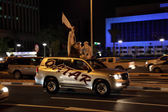 Qatar National Day celebration on the corniche road of Doha. Qatar, Middle East — Stock Photo