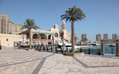 Promenade in Porto Arabia. Doha, Qatar, Middle East — Stock Photo