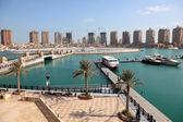 Marina de luxo no porto da arábia. doha, qatar, médio oriente — Foto Stock