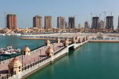 Luxury marina in Porto Arabia. Doha, Qatar, Middle East — Stockfoto