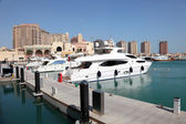 Luxury marina in Porto Arabia. Doha, Qatar, Middle East — Foto Stock