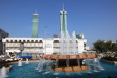 Fountain in the city of Manama, Bahrain, Middle East — Stock Photo