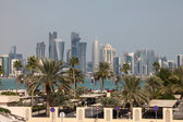 Skyline of Doha downtown. Qatar, Middle East — Stock Photo