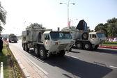 Militärparad i doha på nationaldagen. Qatar, Mellanöstern — Stockfoto