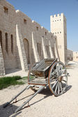 Old handcart at the Sheikh Faisal Museum in Qatar, Middle East — Stock Photo