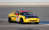 Honda CRX racing at the BIC 2000cc Challenge in Bahrain, Middle East — Stock Photo