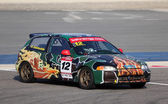 Honda Civic racing at the BIC 2000cc Challenge in Bahrain, Middle East — Stok fotoğraf