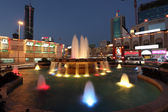 Fountain illuminated at night in Manama, Bahrain, Middle East — Stock Photo