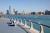 Corniche in abu dhabi, verenigde arabische emiraten — Stockfoto