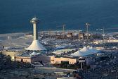 Abu dhabi, birleşik arap emirlikleri marina mall havadan görünümü — Stok fotoğraf