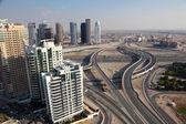 Highway intersection in Dubai, United Arab Emirates — Stock Photo