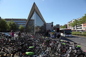 Bicycles in the city of Munster, North Rhine-Westphalia, Germany — Stock Photo