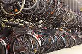 Bicycle garage in Munster. North Rhine-Westphalia, Germany — Stock Photo