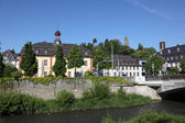 River Dill in town Dillenburg, Hesse, Germany — Stock fotografie