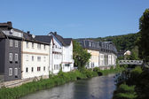 River Dill in town Dillenburg, Hesse, Germany — Stockfoto