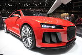 LEIPZIG, GERMANY - JUNE 1: Audi Quattro Concept at the AMI - Auto Mobile International Trade Fair on June 1st, 2014 in Leipzig, Saxony, Germany — Foto Stock
