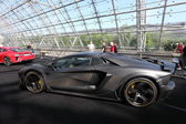 LEIPZIG, GERMANY - JUNE 1: Super sportscar Mansory Carbonado Apertos based on the Lamborghini LP700-4 at the AMI - Auto Mobile International Trade Fair on June 1st, 2014 in Leipzig, Saxony, Germany — Stock Photo