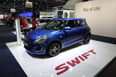 LEIPZIG, GERMANY - JUNE 1: New Suzuki Swift at the AMI - Auto Mobile International Trade Fair on June 1st, 2014 in Leipzig, Saxony, Germany — Foto Stock