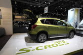 LEIPZIG, GERMANY - JUNE 1: New Suzuki SX4 S-Cross at the AMI - Auto Mobile International Trade Fair on June 1st, 2014 in Leipzig, Saxony, Germany — Foto Stock