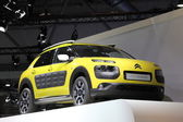 LEIPZIG, GERMANY - JUNE 1: New Citroen C4 Cactus at the AMI - Auto Mobile International Trade Fair on June 1st, 2014 in Leipzig, Saxony, Germany — Foto Stock
