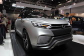 LEIPZIG, GERMANY - JUNE 1: Futuristic SsangYong XLV Concept SUV at the AMI - Auto Mobile International Trade Fair on June 1st, 2014 in Leipzig, Germany — Foto Stock