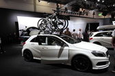 LEIPZIG, GERMANY - JUNE 1: New Mercedes Benz A-Class at the AMI - Auto Mobile International Trade Fair on June 1st, 2014 in Leipzig, Saxony, Germany — Stockfoto